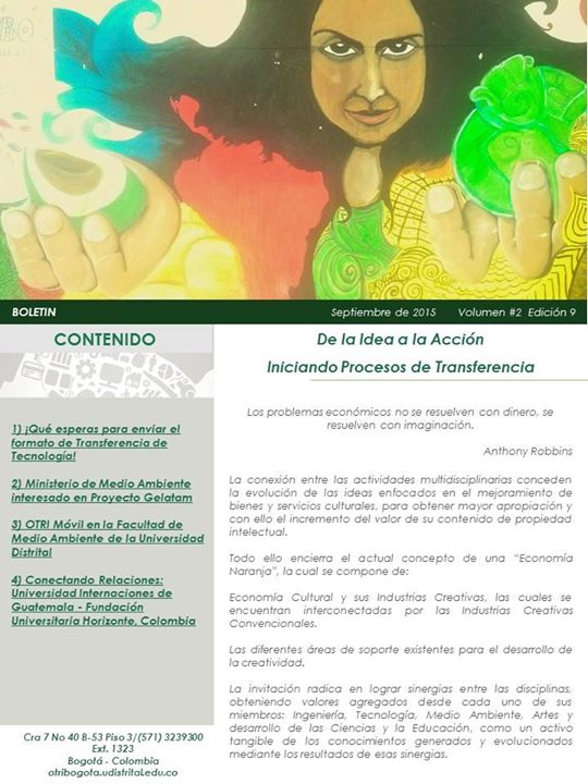 Boletín Septiembre - OTRI-Bogotá