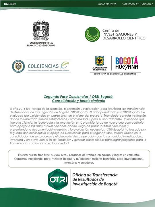 Boletín Junio - OTRI-Bogotá