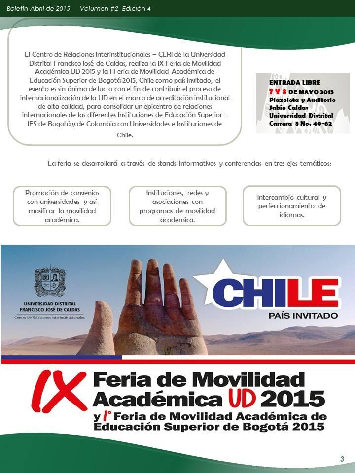 Boletín Abril - OTRI-Bogotá