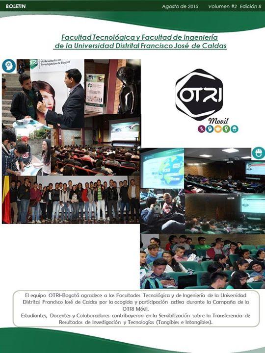 Boletín Agosto - OTRI-Bogotá