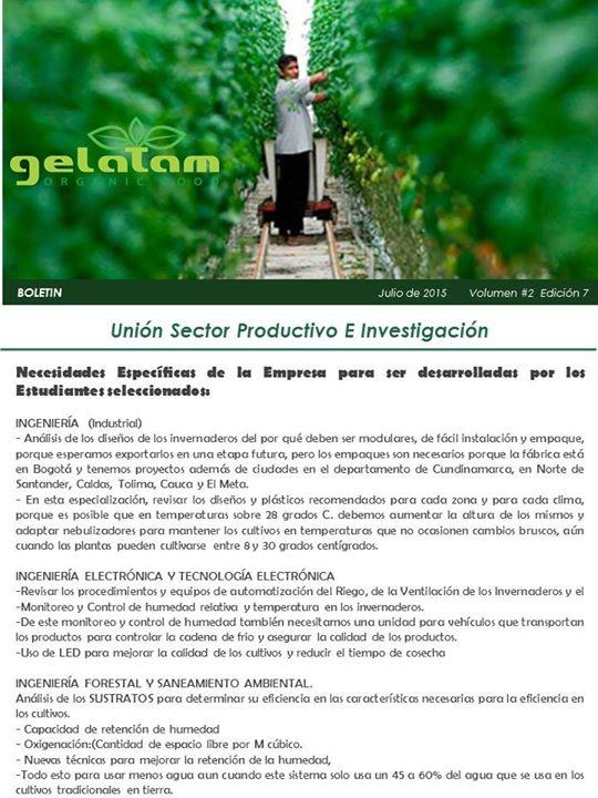 Boletín Julio - OTRI-Bogotá
